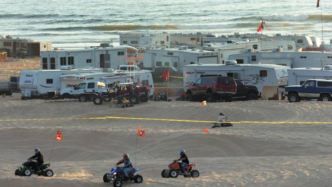 Camping in motorhomes has been allowed on this area of the Oceano Dunes shoreline for decades.