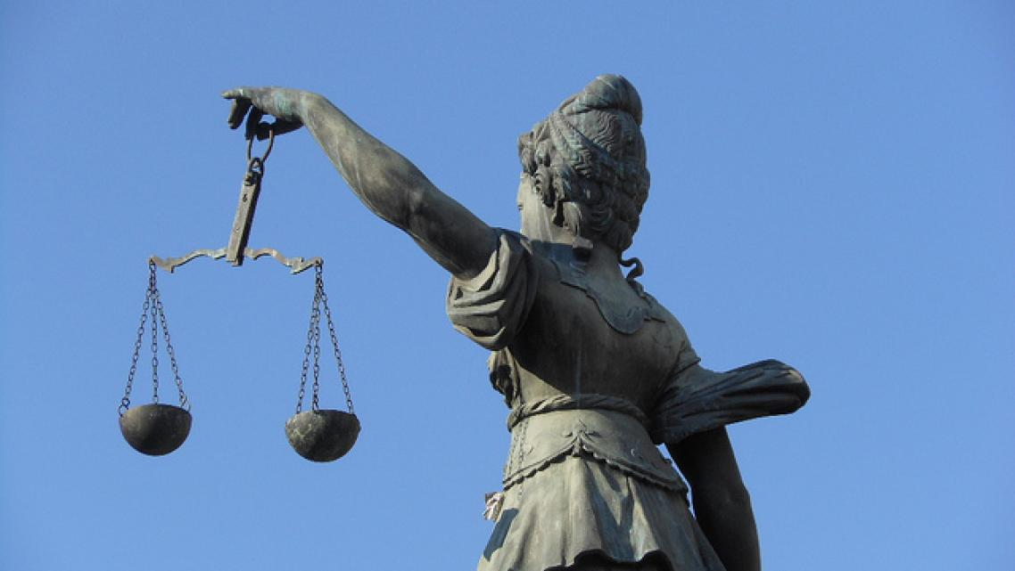 Lady justice can be a health reporter's best friend.