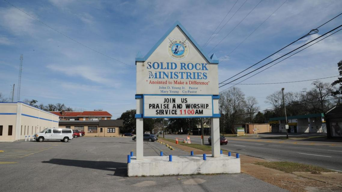 Solid Rock Ministries in Mobile, Alabama. Three officials from the church's program for troubled teens were convicted in January