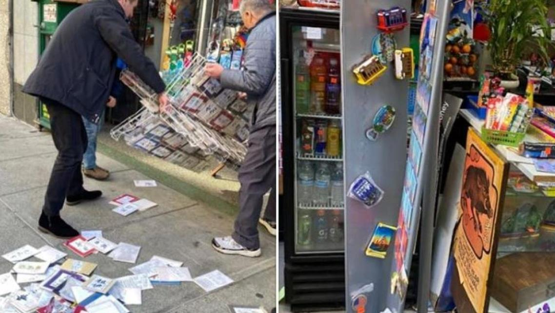Vandals struck shops in San Francisco as the coronavirus lockdown began in California. Photo courtesy of Crimes Against Asians F