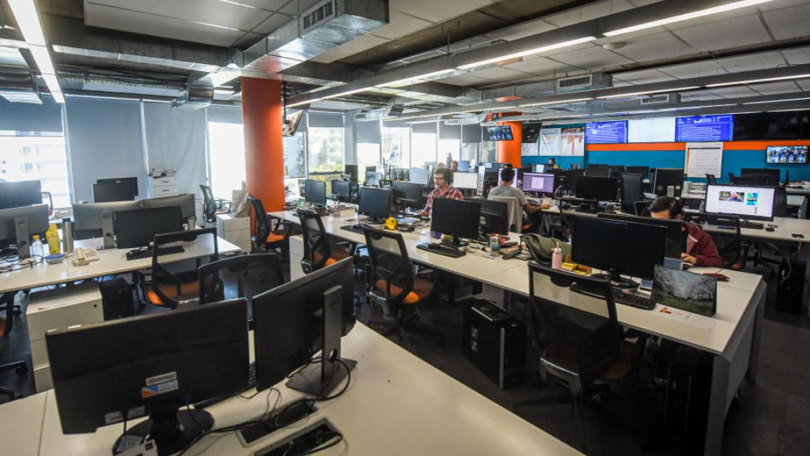 Newsrooms look rather empty these days as most reporter are working remotely from their homes.