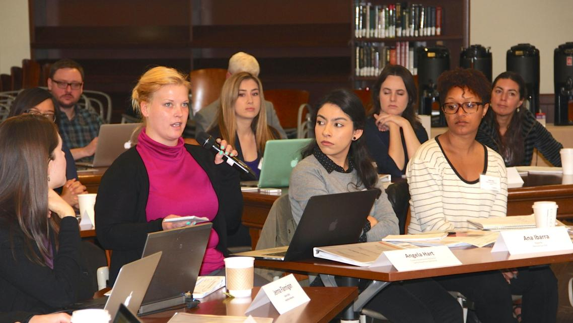 Fellows participate in a discussion at the fellowships