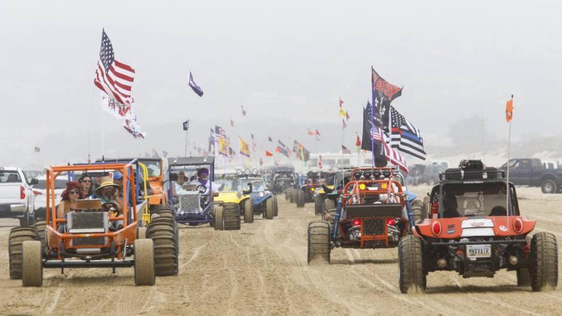 Hundreds of dune buggies paraded along the Oceano Dunes State Recreational Vehicle Area in 2018. David Middlecamp