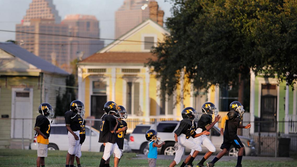 The Panthers youth team practices at Central City's A.L. Davis Park. (Photo by Brett Duke/NOLA.com)