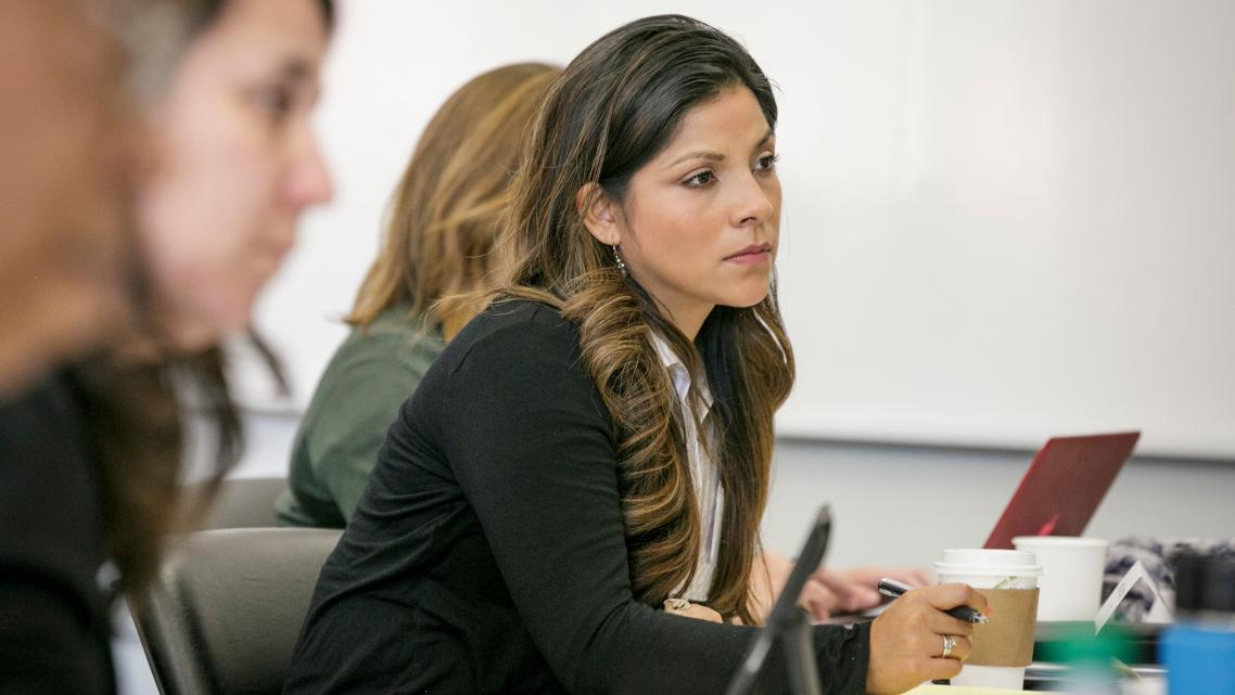 2017 Univision reporter Sandra Cervantes at a Center for Health Journalism Convening