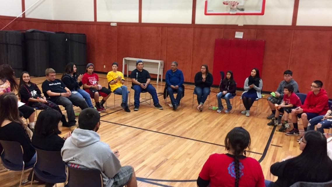 Young residents of the Yurok Reservation gathered last week for a youth wellness workshop. | Photos by Ryan Burns.