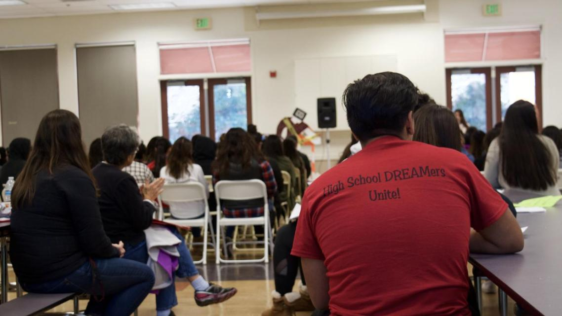 Undocumented 'Dreamers' from across California come together to discuss their mental and emotional health. Jenny Manrique