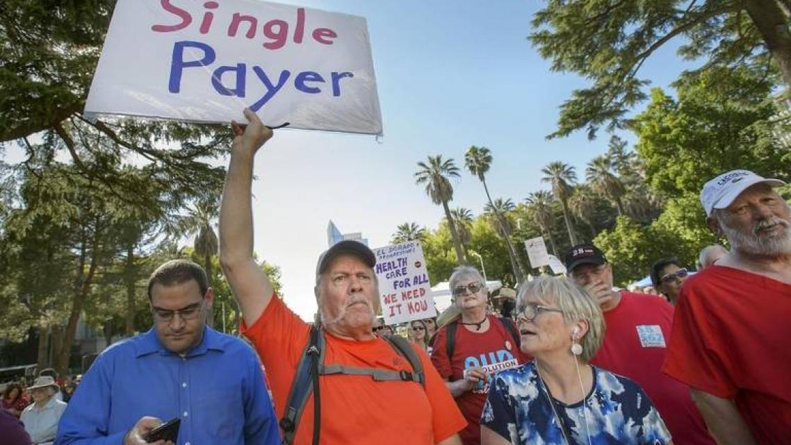 Demonstrators at a Sacramento rally last year in support of a bill to create a single-payer system in California.