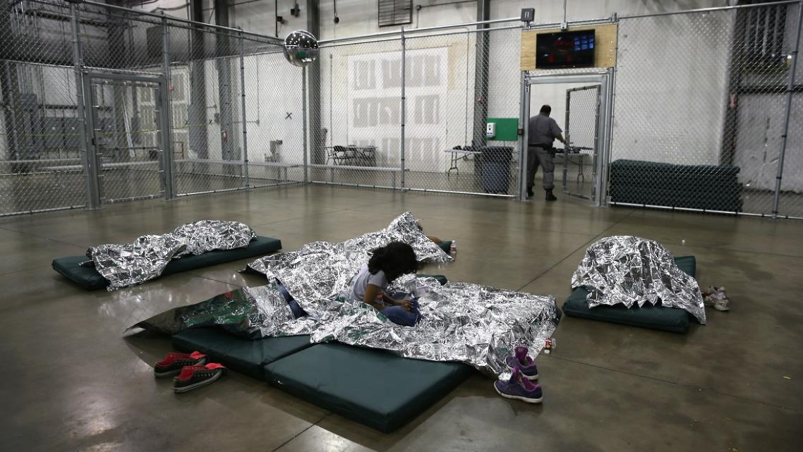U.S. Border Patrol houses unaccompanied minors in detention centers like this. || Photo Credit: John Moore/Getty Images News/Get