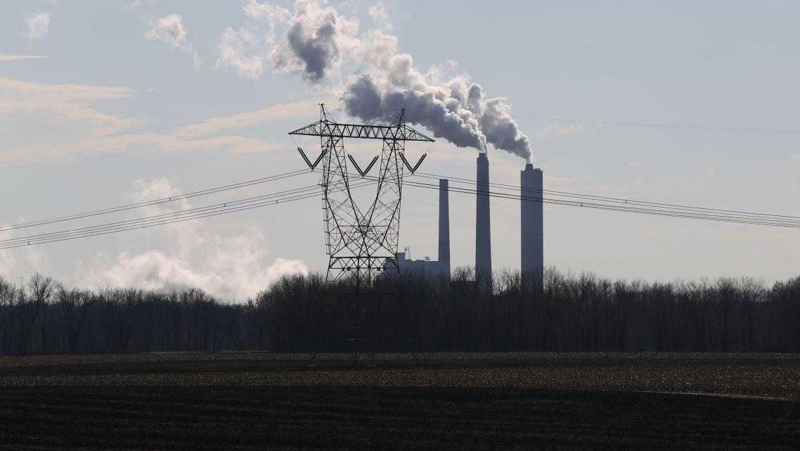 A view of the Petersburg power plant located just miles from Washington, Indiana, which is located in the Indiana county.