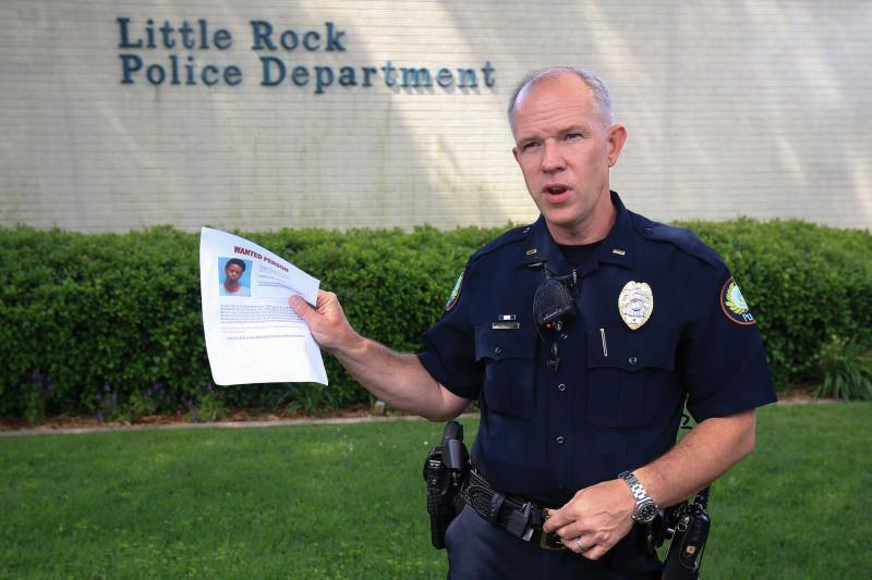 Former Little Rock Police Lt. Steve McChlanahan talks May 23, 2017 about the arrest of a suspect in the killing of 2-year-old Ramiya Reed.