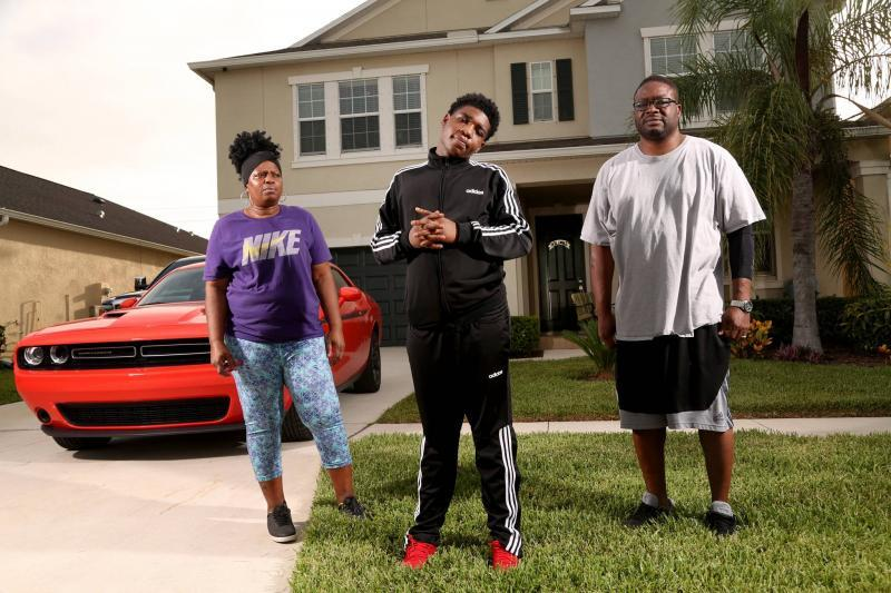 Da'Marion Allen, who has developmental disabilities and touch sensitivity, is a target of the Pasco Sheriff's Office. He lives with his grandparents, Michelle and Terrance Dotson. DOUGLAS R. CLIFFORD | Times