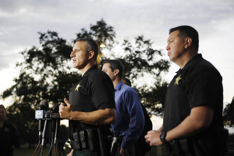 Pasco County Sheriff Chris Nocco holds a press conference in January in Dade City. OCTAVIO JONES | Times