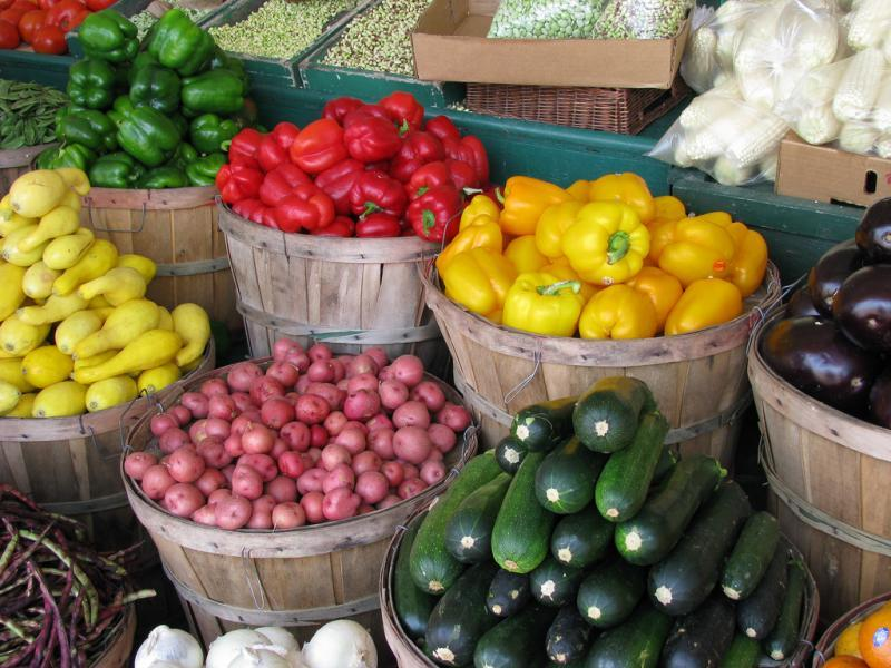 Small farmer's markets and grocer stands are the only way some areas can get fresh produce, but even they are rare.