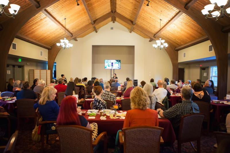 More than 100 people attended a community conversation about suicide prevention co-hosted by Capital Public Radio. Photo: Vanessa Nelson.