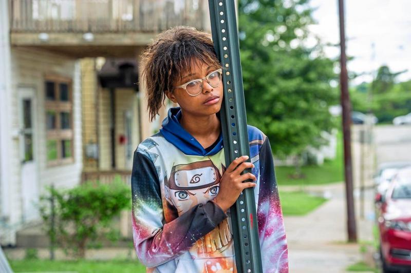 Shelby King-Oliver of Rankin photographed on Fifth Avenue in front of her grandmother's home in Rankin.