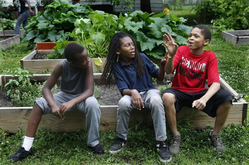 Each summer, dozens of boys participate in the garden program, which completed its fifth year in August.