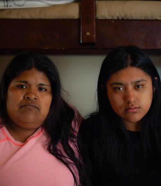 Resi Salvador, right, and her step-mother, Constanza Salvador, share a small apartment on the North Side of Salinas with seven others. SEBASTIÁN HIDALGO FOR THE SALINAS CALIFORNIAN AND CATCHLIGHT.IO