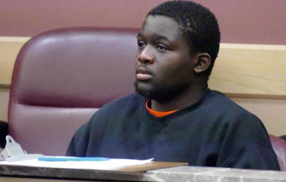 Keishan Ross sits through a hearing before Judge Michael Orlando on Feb.17, 2017, to determine where he will end up next.