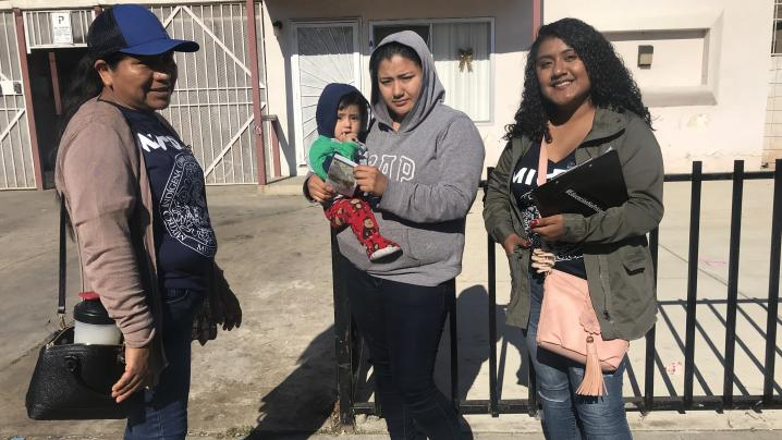 MICOP Health Promoters, Rosita and Lidia reach the streets of Oxnard of the Mixteca community