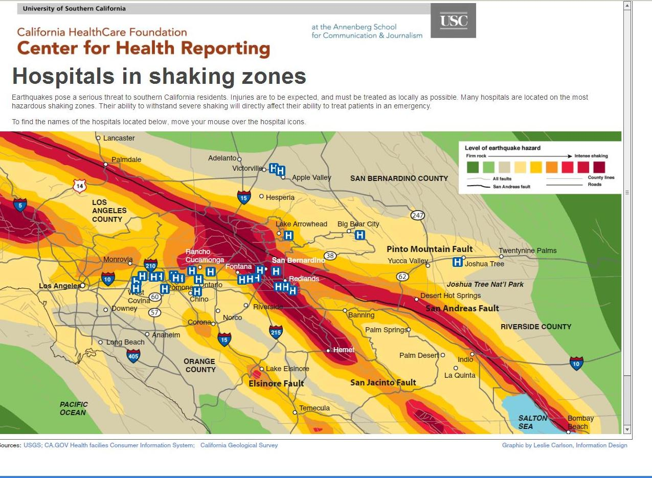 Map Of California Hospitals.Delays In Making Hospitals Earthquake Safe Reporting From