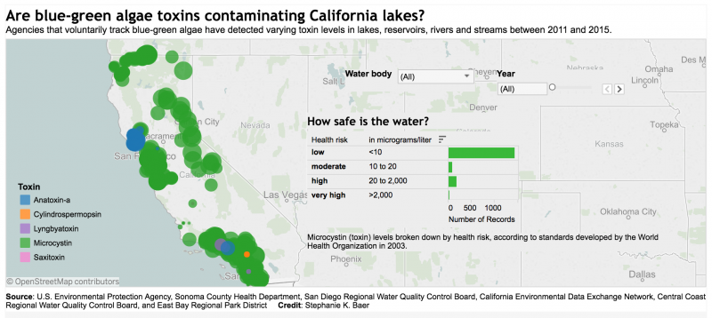 Bodies Of Water In California Map.How One Reporter Wrangled Data From Across Calif To Report On