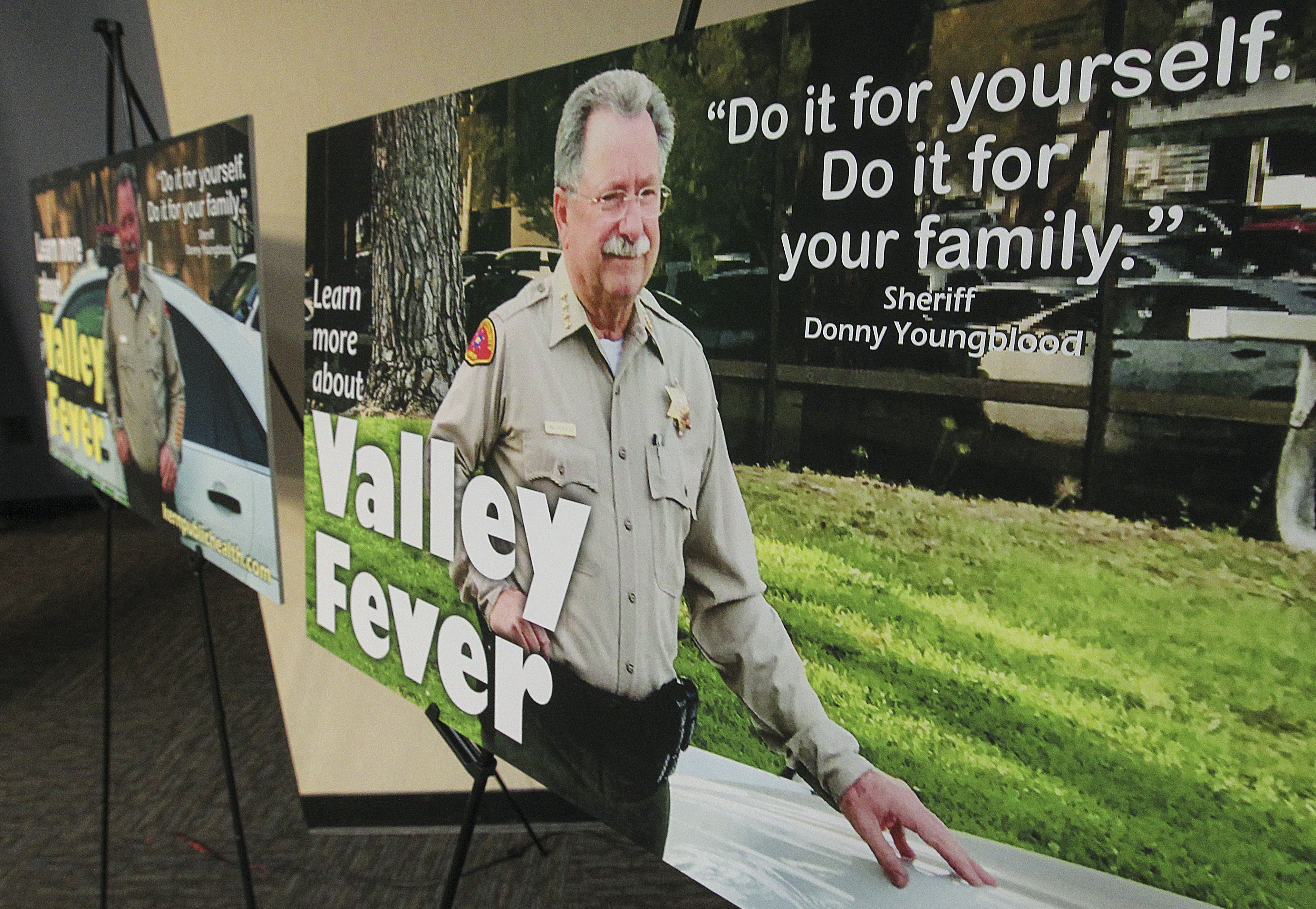 Sheriff Donny Youngblood stars in new valley fever PSA