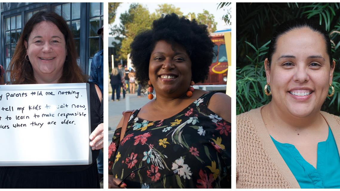 Maureen McMahon, Patrice Lakey (Photos by Michell Eloy) and Eunice Aguilar (Photo by Olivia Henry)