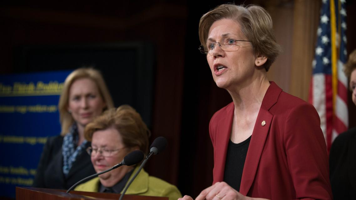 Sen. Elizabeth Warren, shown at an event earlier this year.