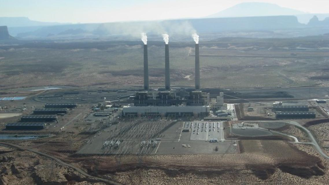 Navajo Generating Station is a coal-fired powerplant with a power of 2280 megawatts located on the Navajo Indian Reservation