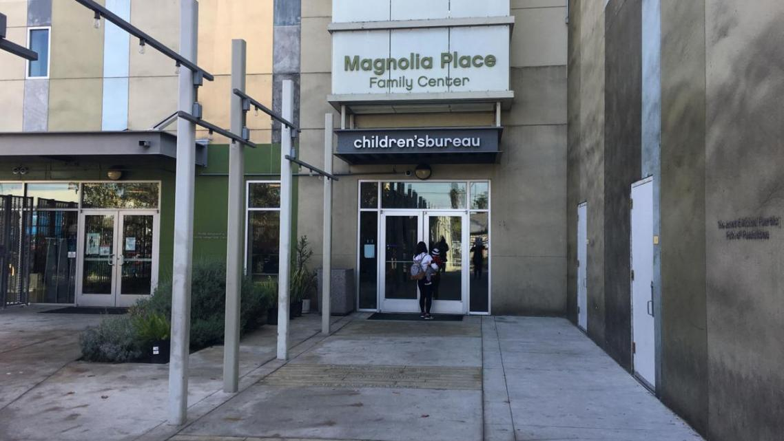 "At the Magnolia Place in Los Angeles, families can see a doctor, get help with their finances and use the on-site preschool. ""A"