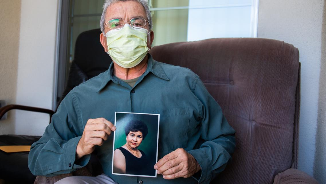 Cesar Noriega's mother lives at Reo Vista Healthcare Center in San Diego.