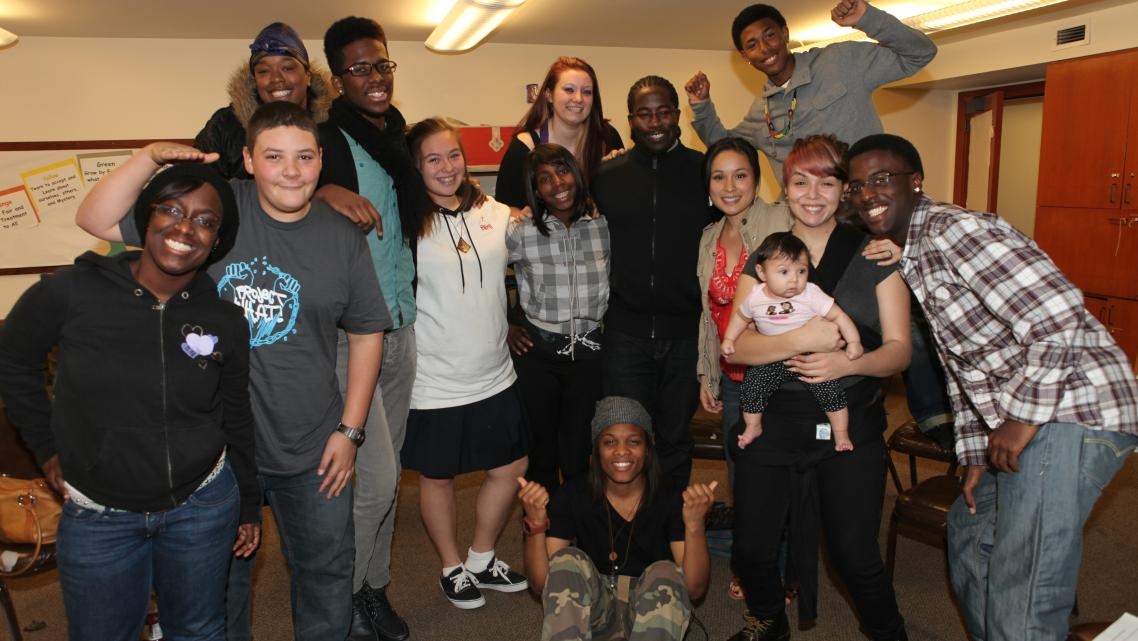 Teen and staff of Project WHAT! empowering youth who have had incarcerated parents