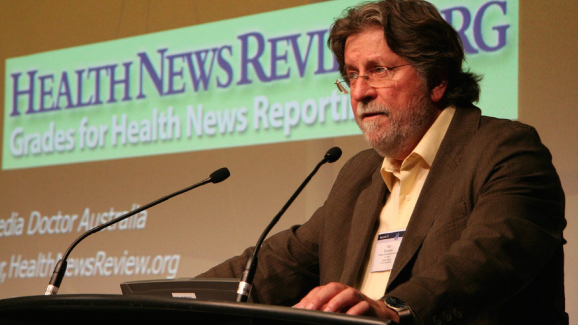 Gary Schwitzer's talks are always full of salutary reminders for health journalists.