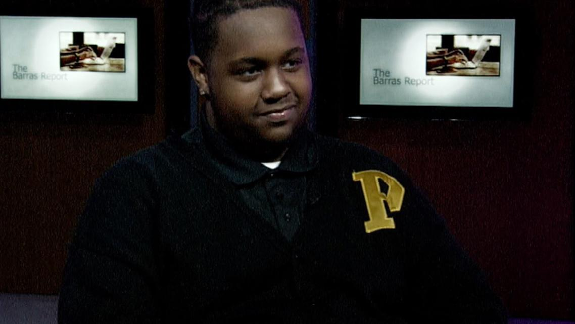 Davon Harris, a senior at Richard Wright Public Charter School for Journalism and Media Arts. Photo: UDC Television Interview Ph
