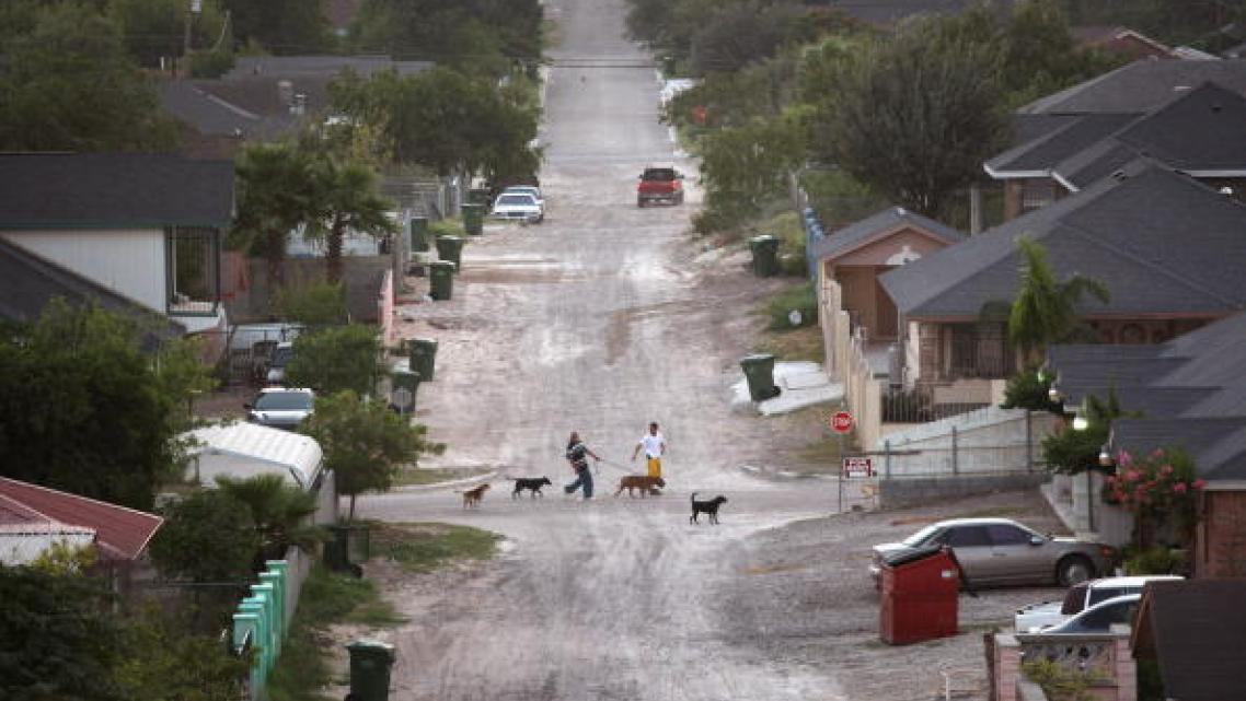 """A  """"colonia"""" community in Starr County, Texas."""