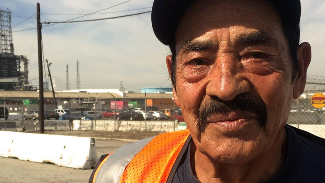 At California Cartage near the Port of Long Beach, 68-year-old Jose Rodriguez said it gets hot inside the shipping containers.
