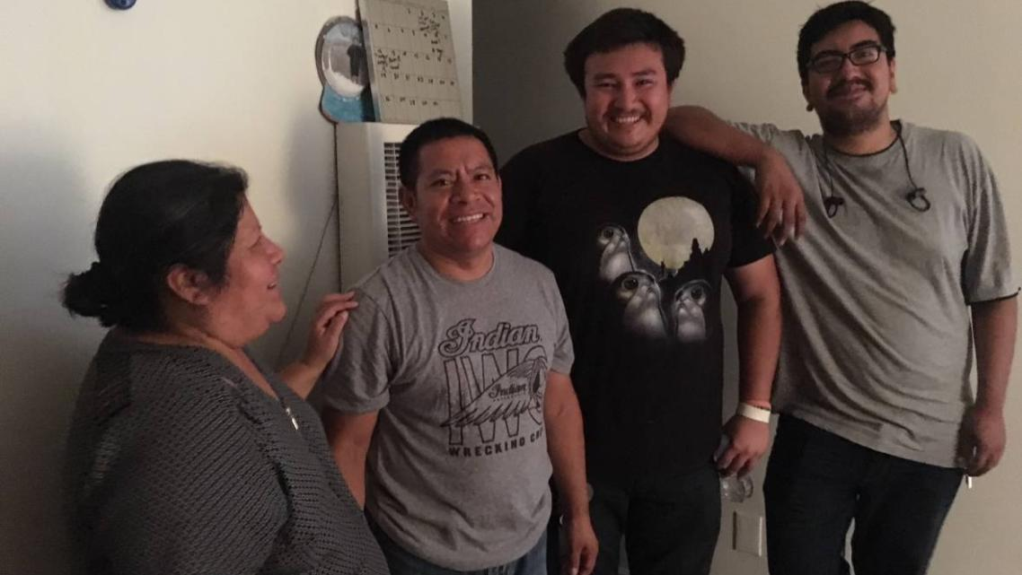 We placed a sensor inside the home of Cristina Sanchez (L) and her husband Felino Chanax (next to L), in Maywood, in southeast L