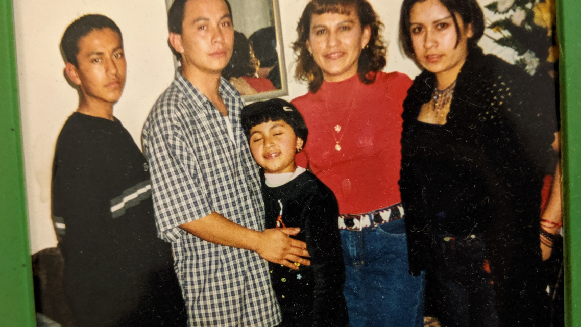 Jacqueline Garcia, at the age of 16, at right, with her mother and siblings ages 17, 15 and 6.