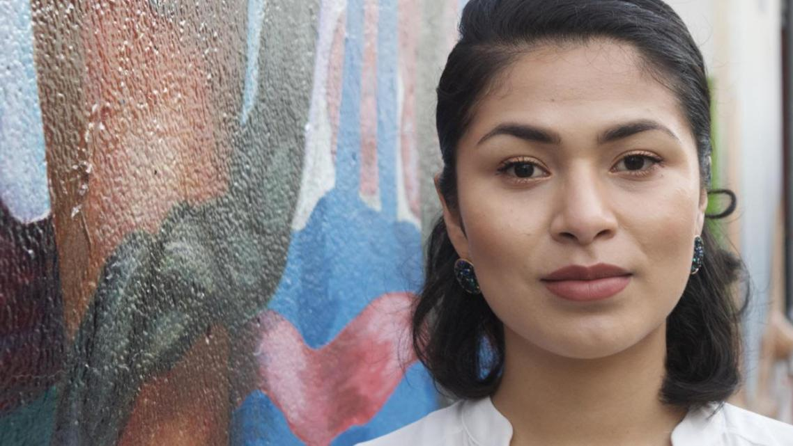 Reyna Maldonado, 24, was born in the Mexican state of Guerrero and crossed the border with an uncle when she was six years old.
