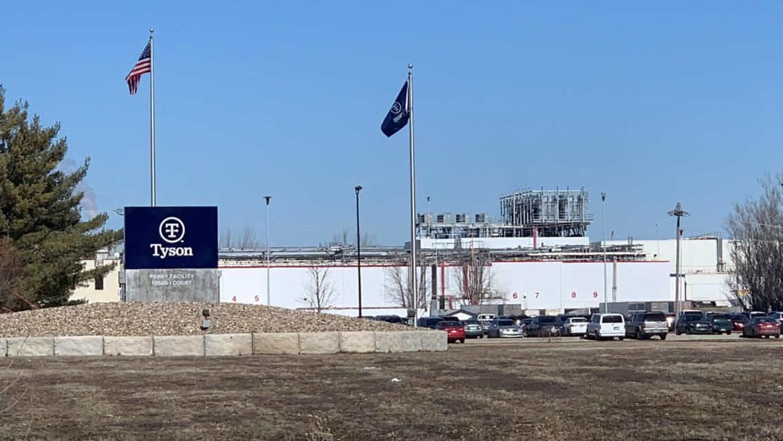 A Tyson meatpacking facility in Iowa.