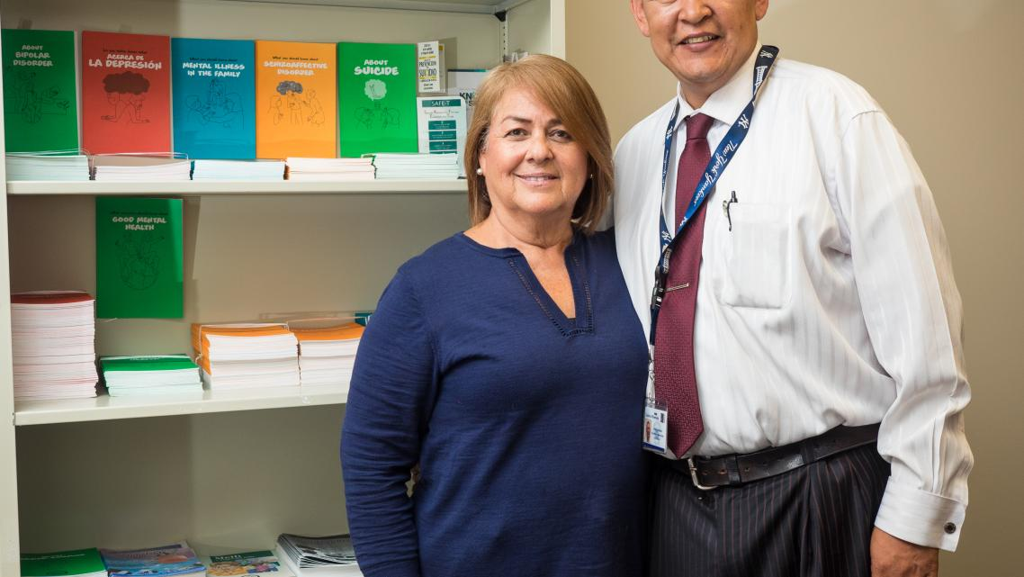 Maria Algarin and Pedro Arciniega work together for the Family Advocate Program.