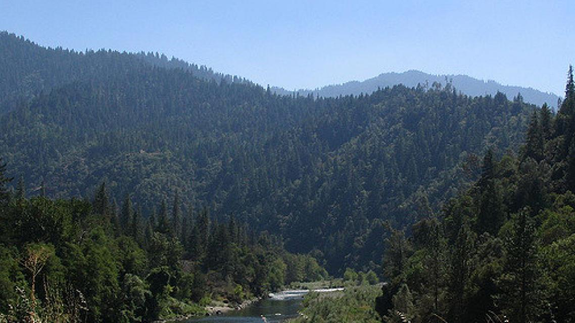 The Trinity River flows through the Hoopa Valley Reservation in Northern California.