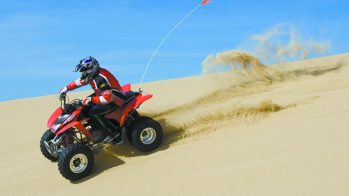 Off-road recreation in the sand dunes.