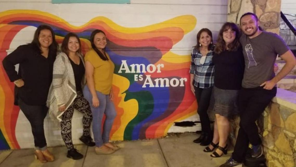 Francisca Porchas Coronado in the center to the left with therapists from the Network of Latinx Counselors in Action from Arizon
