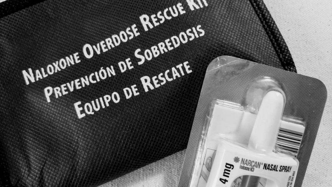 Nasal spray Narcan, used to reverse opioid overdoses