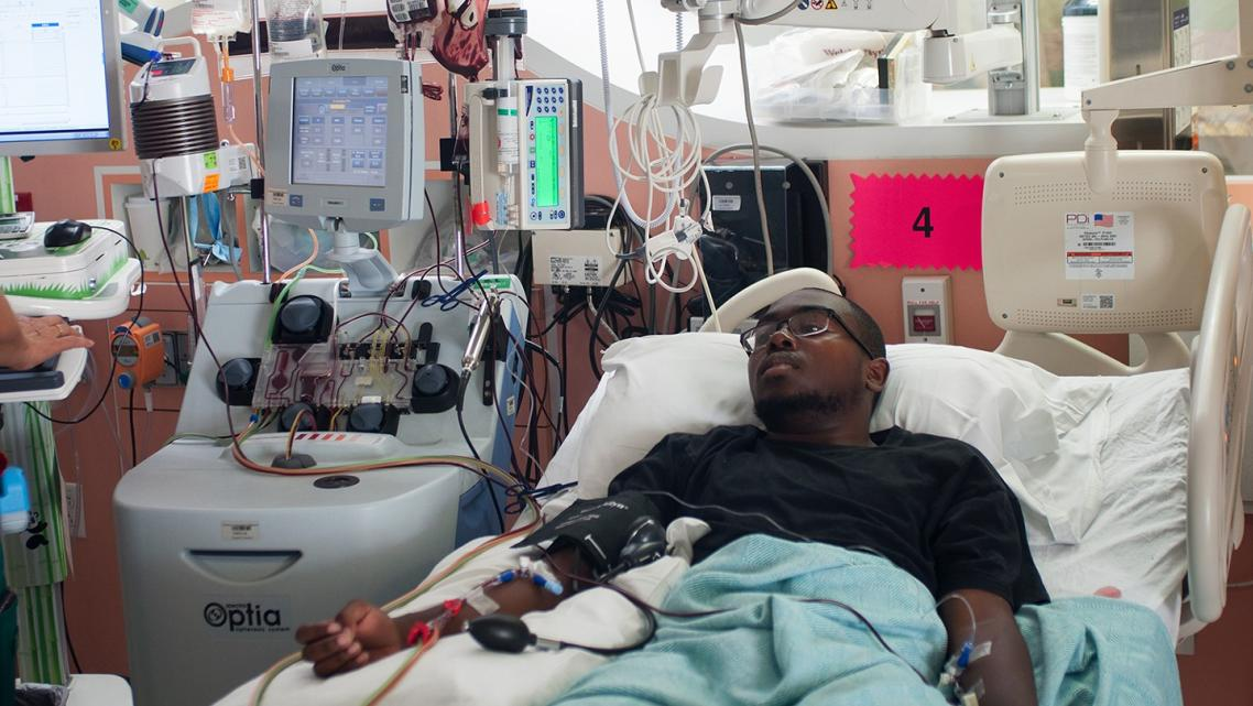 Treyvonn Chadwick receives monthly apheresis treatments, which help prevent strokes and alleviate severe pain.