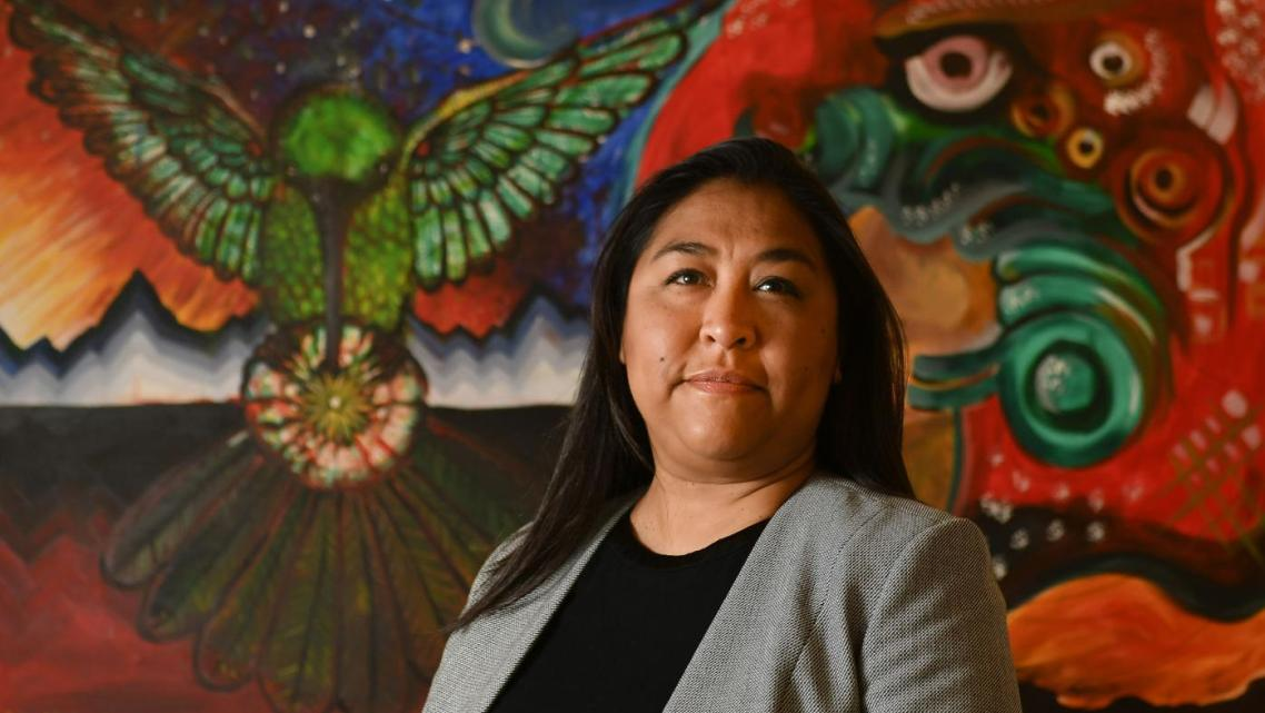 Ana Huynh, shown in her Chapel Street office, is the program director for Mixteco Indigena Community Organizing Project