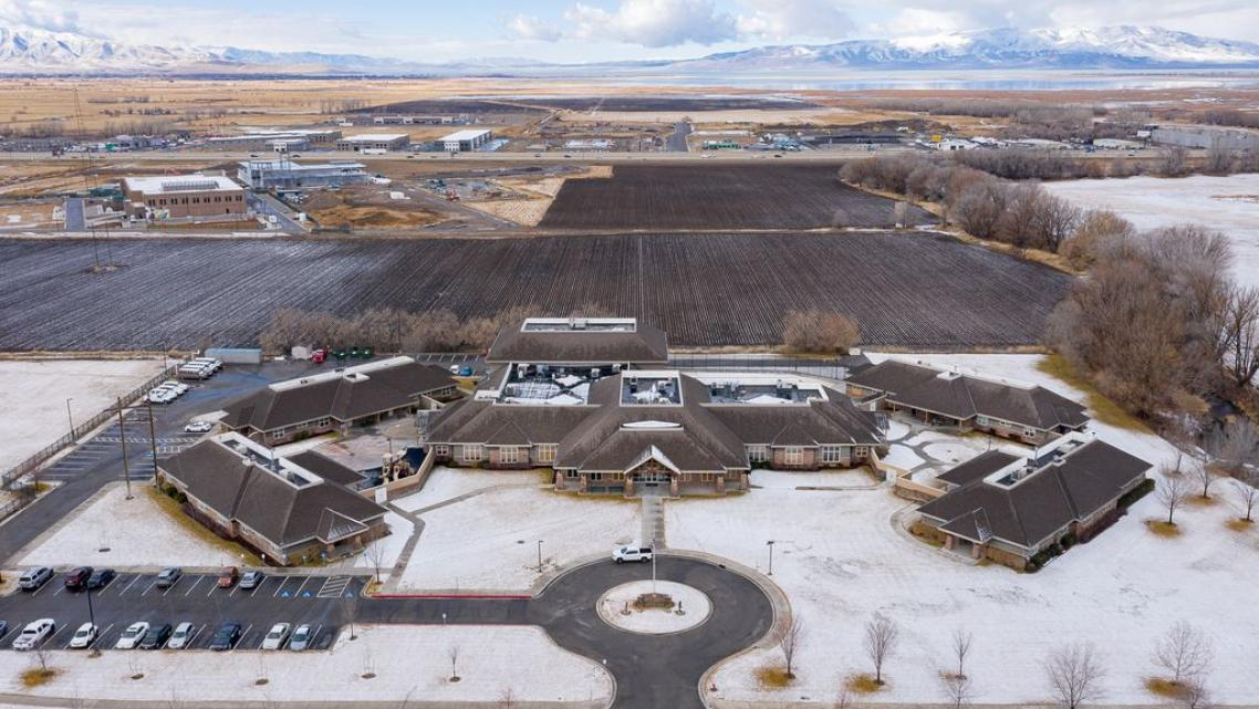 Aerial photo of Provo Canyon School's Springville Campus on Saturday, Jan. 30, 2021.