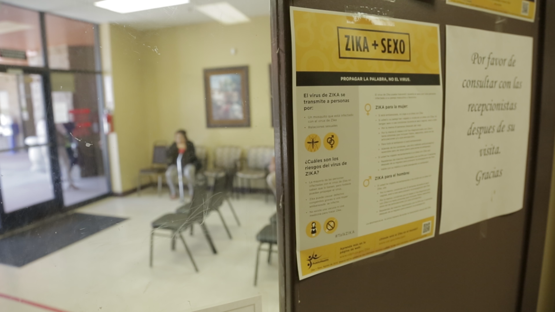 Patients wait for care in a Coachella Valley waiting room. Credit: Mathew Ornelas / KVCR